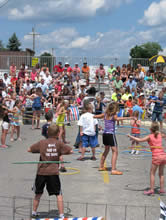 kids in hula-hoop contest
