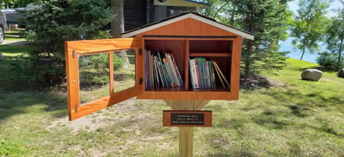 Schoolhouse Little Free Library for kids